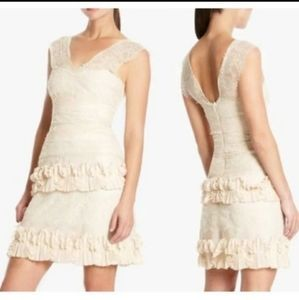 "Dresses & Skirts - $398 BCBG Max Azria ""Aglaia"" Lace dress vanilla 4"